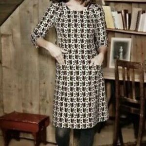 Boden heartland corduroy dress with squirrel print